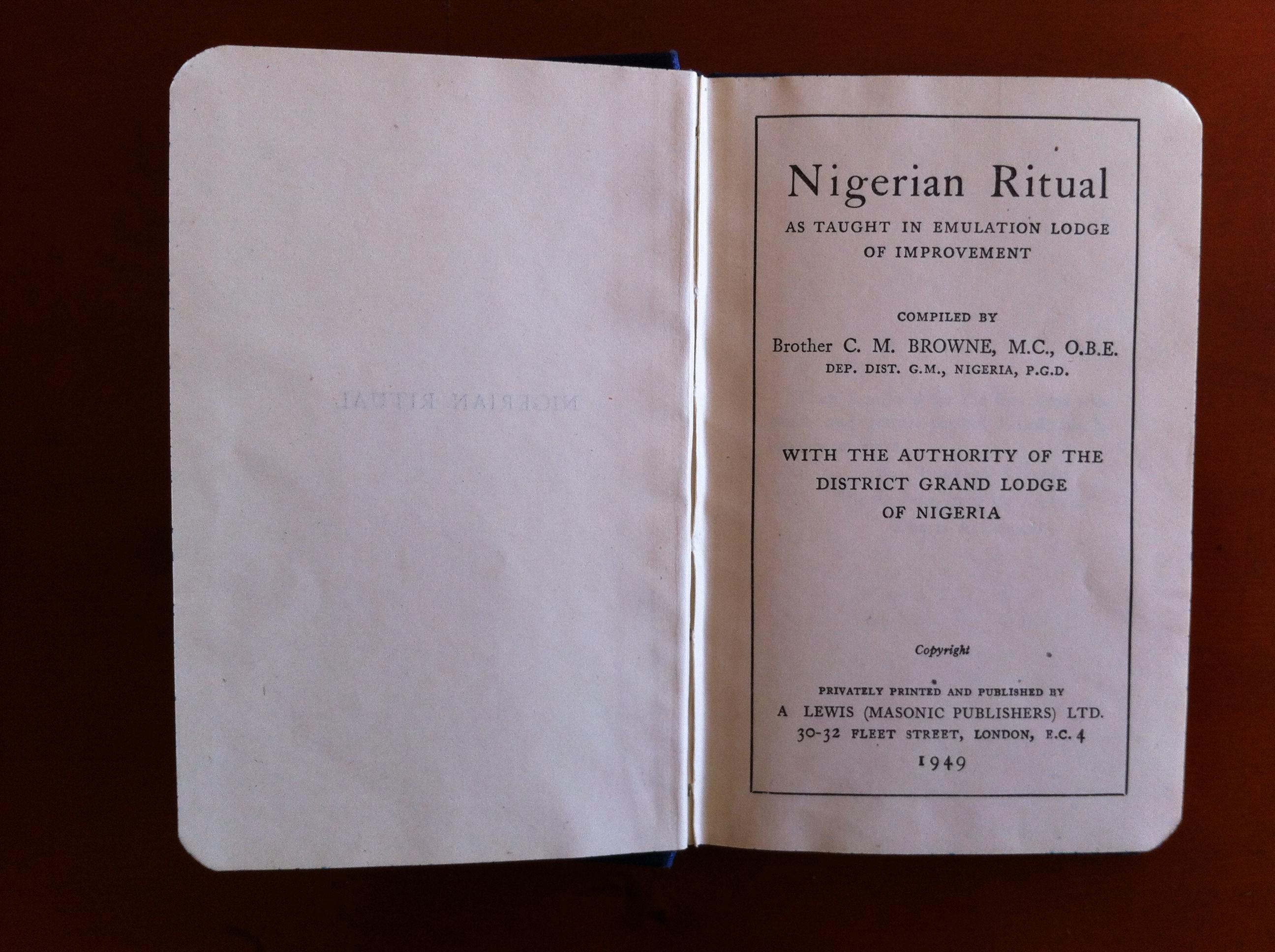 Nigerian Ritual!